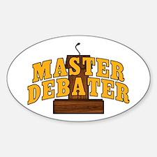 Master Debater Sticker (Oval)