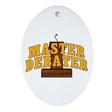 Master Debater Ornament (Oval)