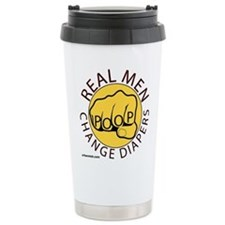 Real men change diapers with Travel Mug