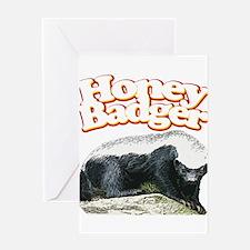 Honey Badgers Greeting Card