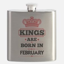 KINGS ARE BORN IN FEBRUARY Flask