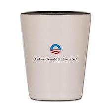 Cute Political humor Shot Glass