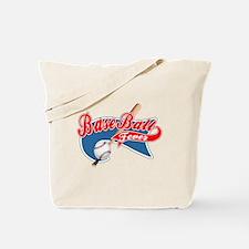 BaseBall Fever Flaged black o Tote Bag