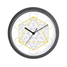 Wall clock with octahedron