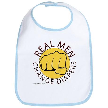 Real men change diapers Bib