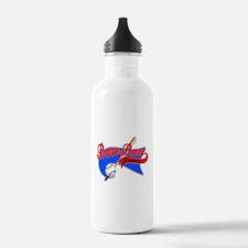 BaseBall Fever Flaged Blue Gr Water Bottle