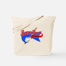 BaseBall Fever Flaged Blue Gr Tote Bag