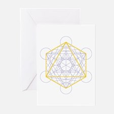 Greeting cards with octahedron (6x)