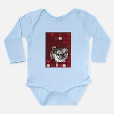 Mod Pug Long Sleeve Infant Bodysuit