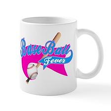 BaseBall Fever Flaged Hotpink Mug