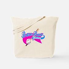 BaseBall Fever Flaged Hotpink Tote Bag