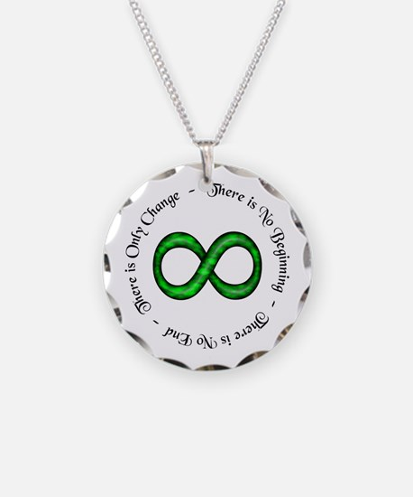 Infinite Change Necklace Circle Charm