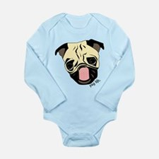 Color Me Pug Life Long Sleeve Infant Bodysuit