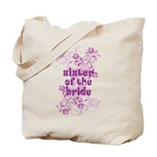 Sister of the Bride Swirl Tote Bag