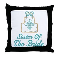 Sister of the Bride Wedding Cake Throw Pillow