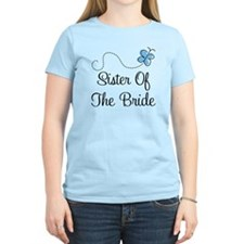 Sister of the Bride Blue Butterfly T-Shirt