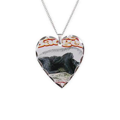 Honey Badger Crazy Necklace Heart Charm