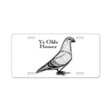 Ye Olde Homer Aluminum License Plate
