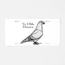 Ye Olde Homer Aluminum License Plate