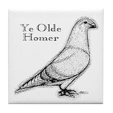 Ye Olde Homer Tile Coaster