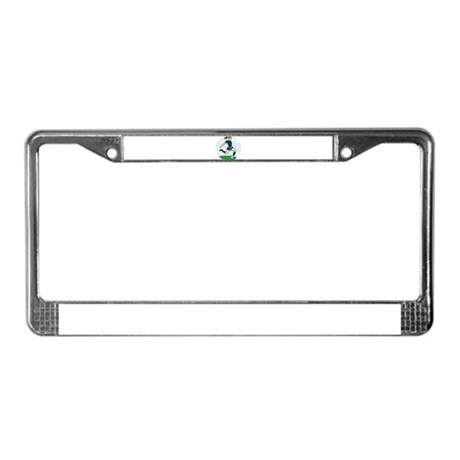 woman soccer player License Plate Frame
