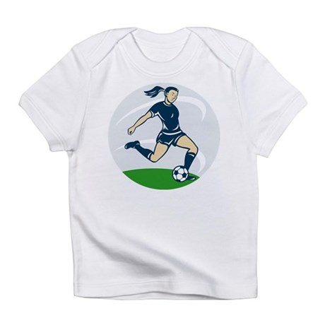 woman soccer player Infant T-Shirt
