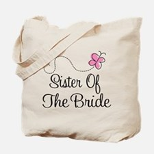 Sister of the Bride Pink Butterfly Tote Bag