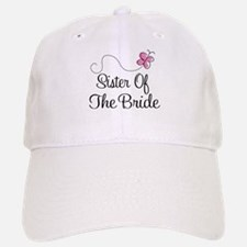 Sister of the Bride Pink Butterfly Baseball Baseball Cap