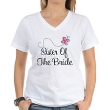 Sister of the Bride Pink Butterfly Shirt
