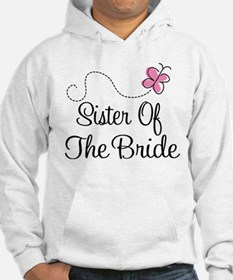 Sister of the Bride Pink Butterfly Hoodie