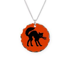 Vintage Halloween Style Necklace Circle Charm