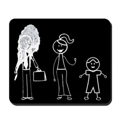 Pooped on Dad-one daughter Mousepad