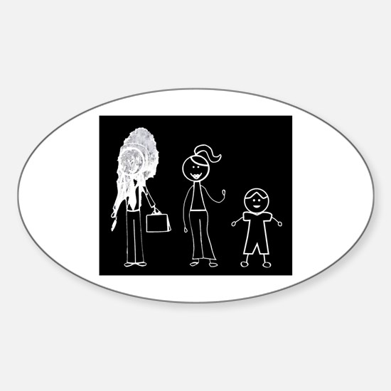 Pooped on Dad-one daughter Sticker (Oval)