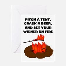 Wiener On Fire Greeting Card