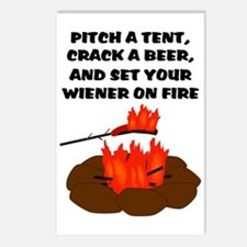 Wiener On Fire Postcards (Package of 8)