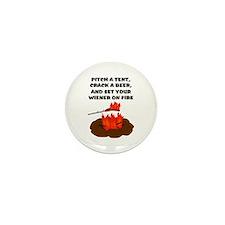 Wiener On Fire Mini Button (10 pack)