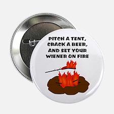 """Wiener On Fire 2.25"""" Button"""