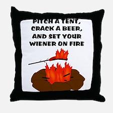 Wiener On Fire Throw Pillow