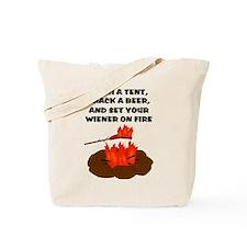 Wiener On Fire Tote Bag