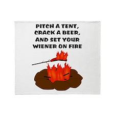 Wiener On Fire Throw Blanket