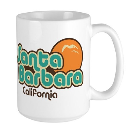 Santa Barbara California Large Mug