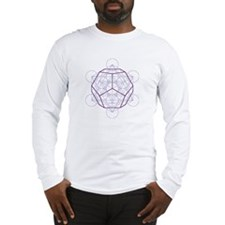 Long sleeve T-shirt with dodecahedron