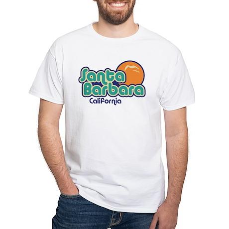 Santa Barbara California White T-Shirt