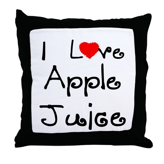 I Love Apple Juice Throw Pillow By Sweetfamily