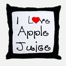I Love Apple Juice Throw Pillow