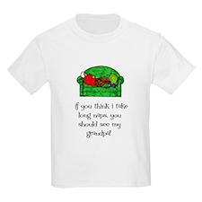 Grandpa's Nap Kids T-Shirt