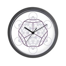 Wall clock with dodecahedron