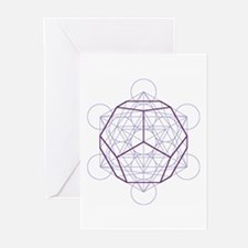 Greeting cards with dodecahedron (6x)