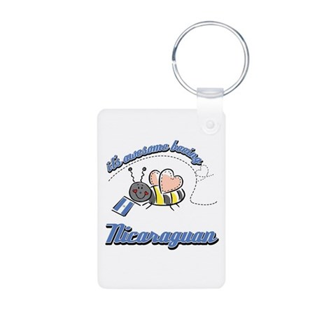 Awesome Being Nicaraguan Aluminum Photo Keychain