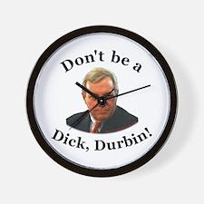 anti Dick Durbin Wall Clock